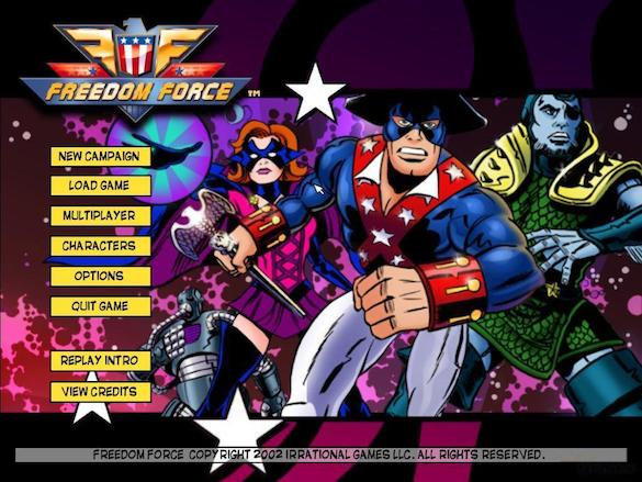 Freedom Force vs. The Third Reich Ingame Spielansicht Hauptmenü